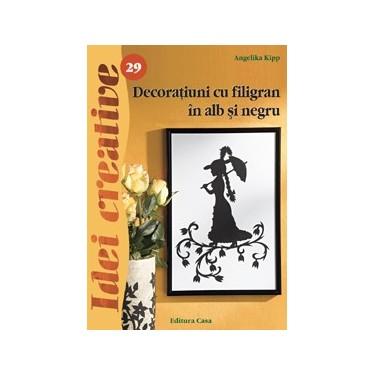 Decoratiuni cu filigran in alb si negru