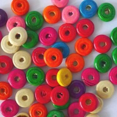 Margele lemn disc 4*11mm -100buc (20g)