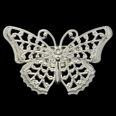 Baza inel sita argintie fluture 31mm