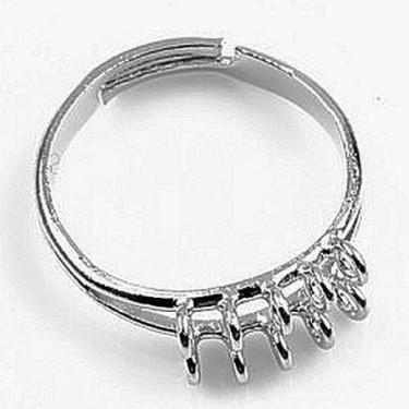 Baza inel 10bucle 2siruri argintie