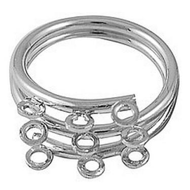 Baza inel 9bucle 3siruri argintie