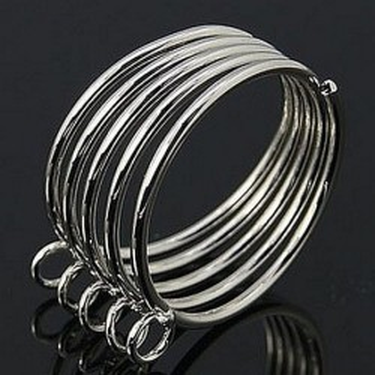 Baza inel 5bucle spirala argintie