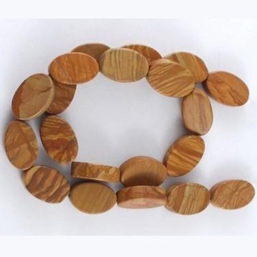 Margele jasp wood lace stone 20mm