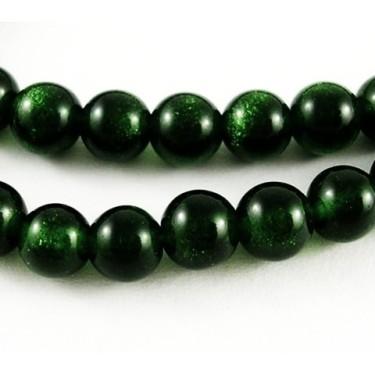 Margele goldsand verde 6mm