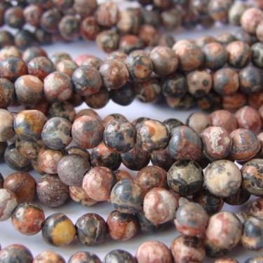 Margele jasp piele de leopard 4mm