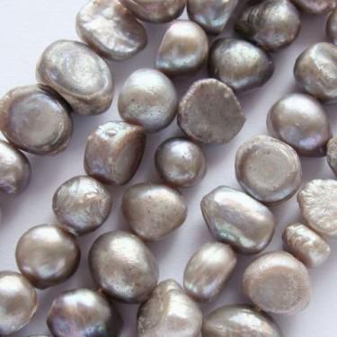 Margele perle de cultura 7-8mm ivory 2 fete