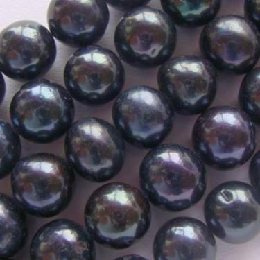 Margele perle de cultura 9mm negre rotunde