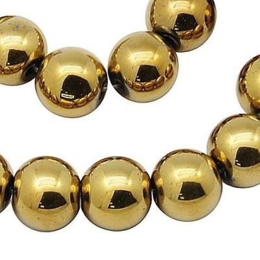 Margele hematit auriu 6mm 40cm max.72buc