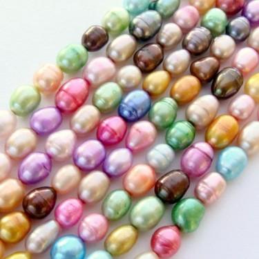Margele perle de cultura 7*5mm colorate