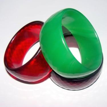Bratari sticla colorata 30mm