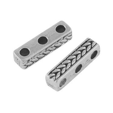 Margele metalice 4*4*15mm - 3siruri -1buc