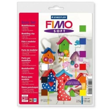FIMO Soft -set 9 culori 225g +accesorii