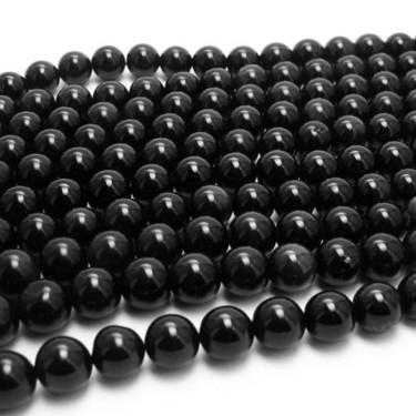 Margele agat  4 mm negru