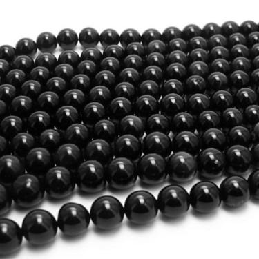 Margele agat  8mm negru