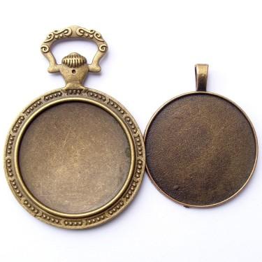 Cabochon pandantiv bronz caseta 35mm