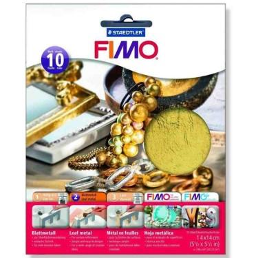 FIMO set 10 foițe metal