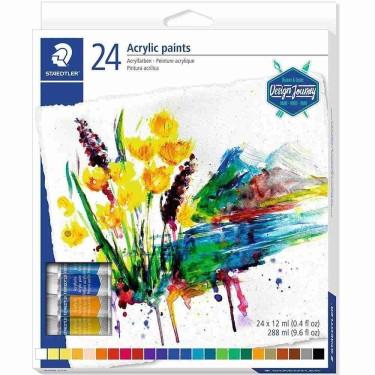 Culori acrilice Staedtler -set 24 tuburi 8500 C24