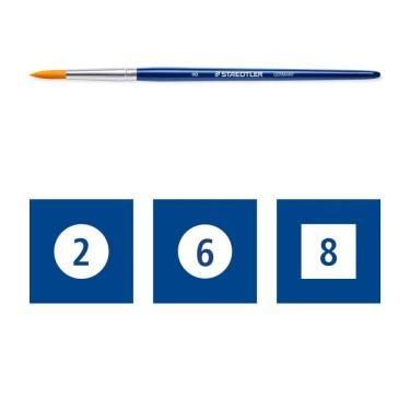 Pensule pictură din lemn 16cm Staedtler -set 3 buc 989 SBK3-3