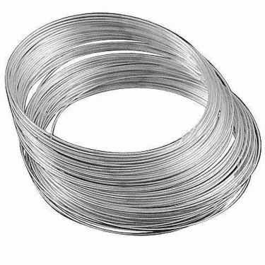 Sârmă memorie colier argintie