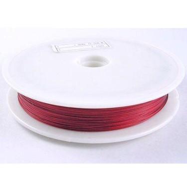 Sârmă siliconată colorată roșu închis