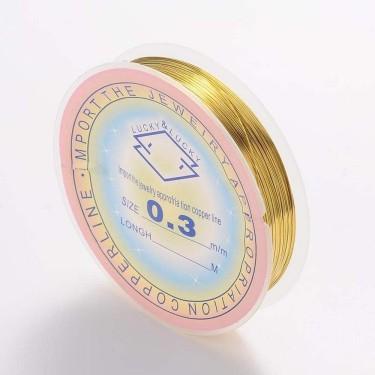Sârmă modelaj 0,3 mm aurie