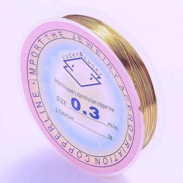 Sârmă modelaj 0,5 mm auriu antichizat