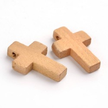 Pandantiv cruce lemn