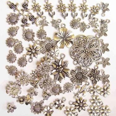 Mix charmuri flori argintii