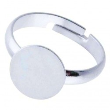 Bază inel platou 10mm silver
