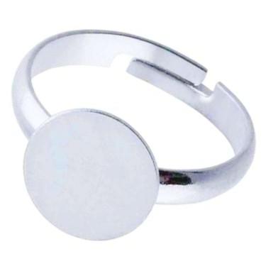 Bază inel platou  8mm silver