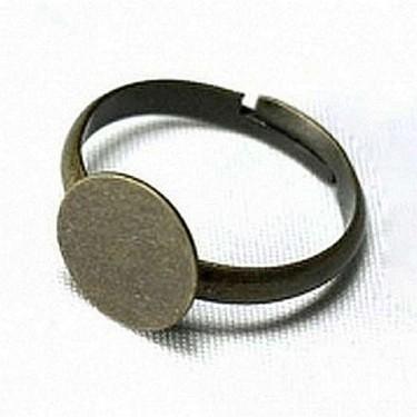 Bază inel platou  8mm bronz