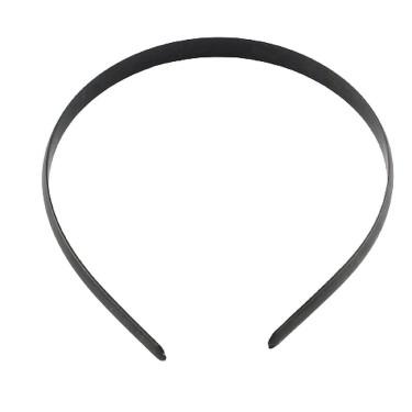Bentiță păr din plastic negru, simplă