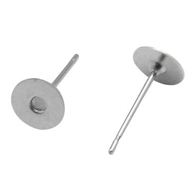 Bază cercei 10 mm argintie