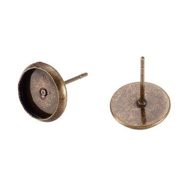 Bază cercei cabochon bronz