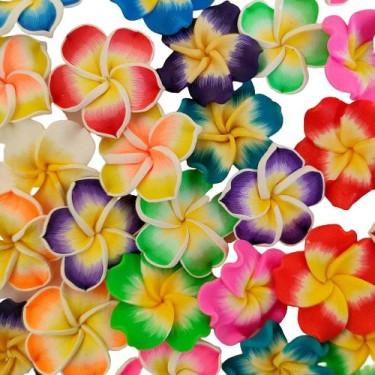 Mărgele pastă polimerică flori