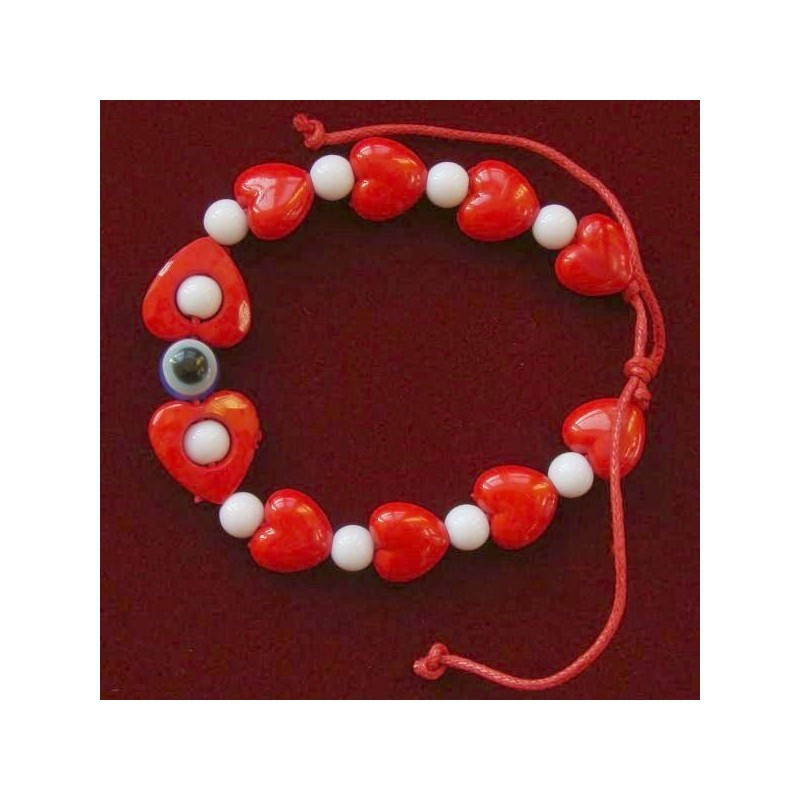 Bratari martisor 10mm inimioare