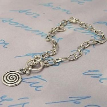 Baza bratari -lant metalic charm spirala