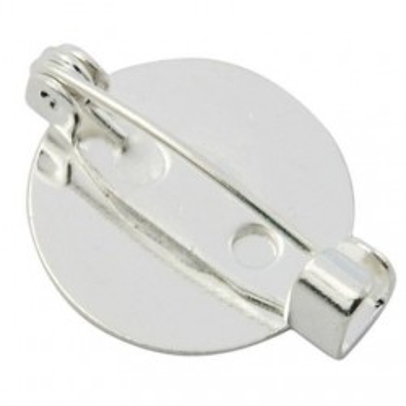 Baza brosa platou 15mm argintie