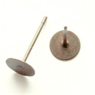Baza cercei 6mm bronz -20buc fara Ni