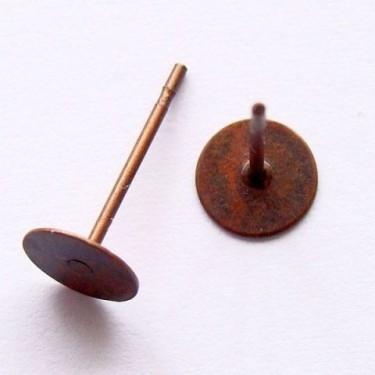 Baza cercei 10 mm cupru -10buc fara Ni