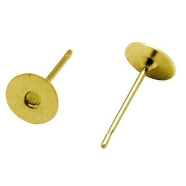 Baza cercei 10 mm aurii -10buc fara Ni