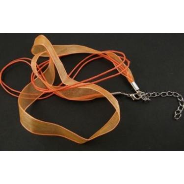 Bază colier din șnur organza