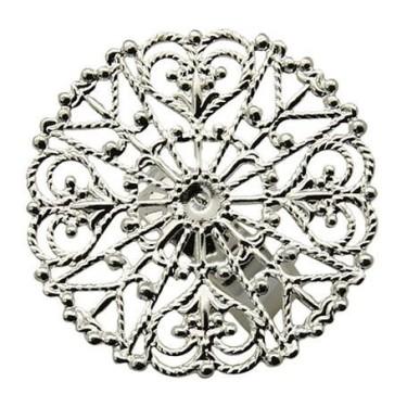 Baza inel sita argintie cerc 31mm