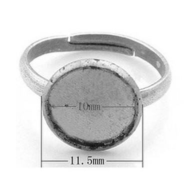 Baza inel cabochon 10mm argintie