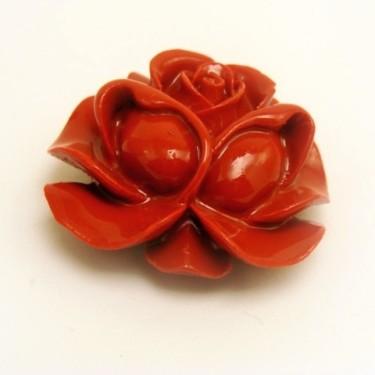 Margele coral sintetic rosu 30*28mm