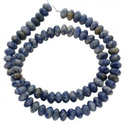 Margele blue spot stone 4*8mm