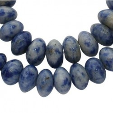 Margele blue spot stone 4*8mm