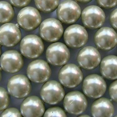 Margele perle imitatie sidef 10mm kaki -1buc