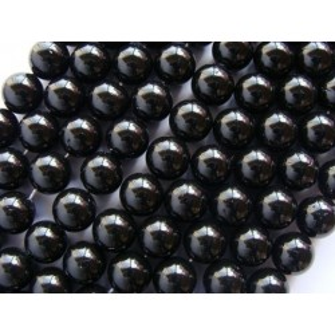 Margele perle imitatie sidef 12mm negre -1buc