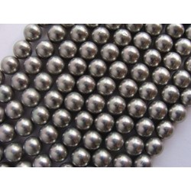 Margele perle imitatie sidef 12mm gri -1buc
